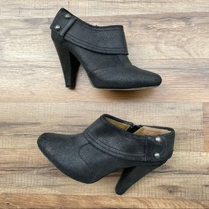 Seychelles Black Leather Booties